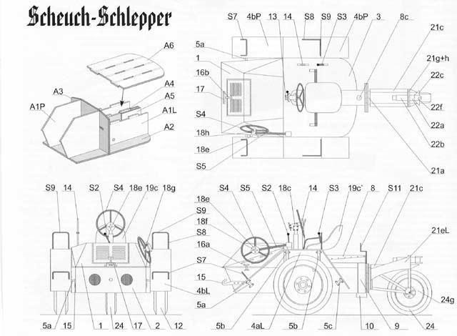 Scheuch-Schlepper - сборочный чертеж.